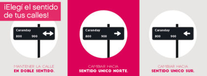 Convocan a decidir si las calles Caranday y Cochico deben cambiar de dirección
