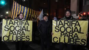Los clubes de barrio exigen ser incluidos en la tarifa social