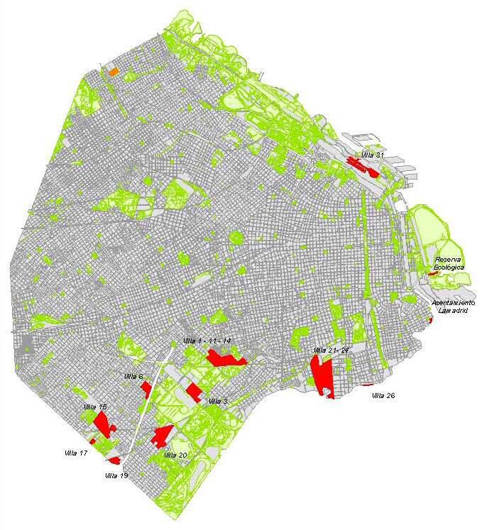 Las 36 villas porteñas aparecerán en los mapas oficiales de la Ciudad