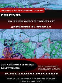 Un festival para que florezca el arte y la memoria en Orletti