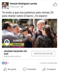 Este viernes, en medio de la polémica por el Área 30, Larreta visitará Villa Real