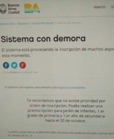 Inscripción on line 2018: padres y docentes elaboraron un instructivo debido a las dificultades del sistema
