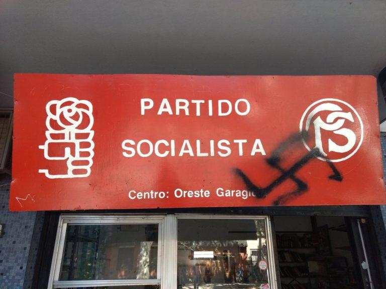 Ataque neonazi al local del Partido Socialista en Floresta