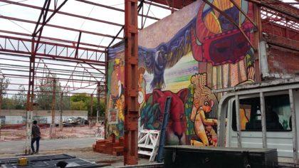 Corralón de Floresta: Avanza la construcción de la Plaza Cultural