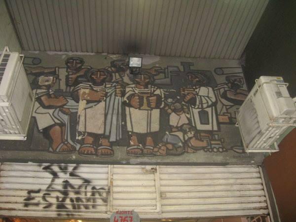 Preocupa el estado del mural La Familia, una obra de arte en pleno corazón de Monte Castro