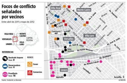 Ante el aumento de robos y hurtos, convocan a elaborar un mapa del delito de la Comuna 10