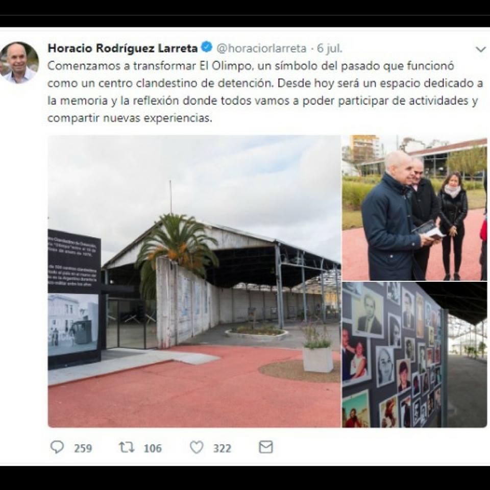 Larreta visitó el ex Centro Clandestino Olimpo y desató una polémica