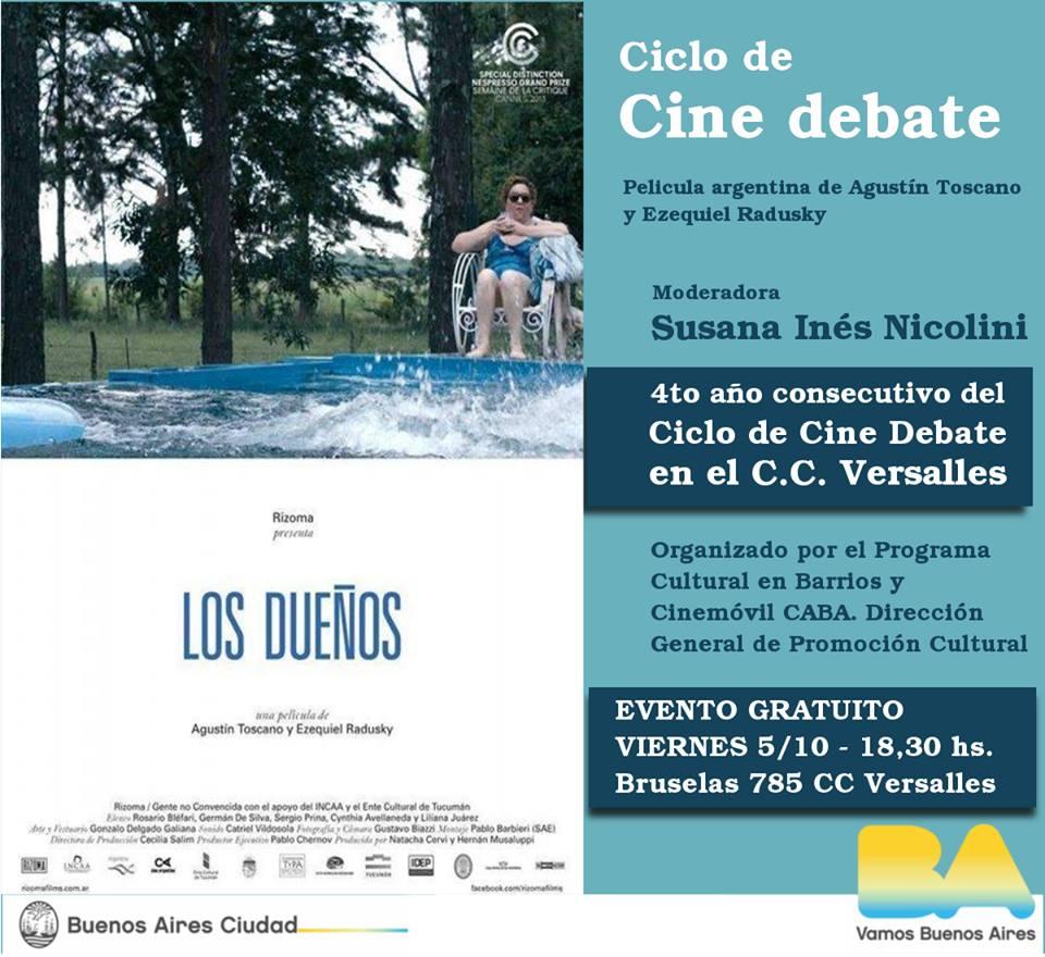 Cine y Folclore en Versalles| Conocé toda la agenda cultural de Octubre