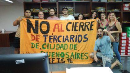 En defensa del único terciario gratuito de la Comuna 10 | El IFTS N°16 va a la justicia para evitar el cierre y traslado a Mataderos