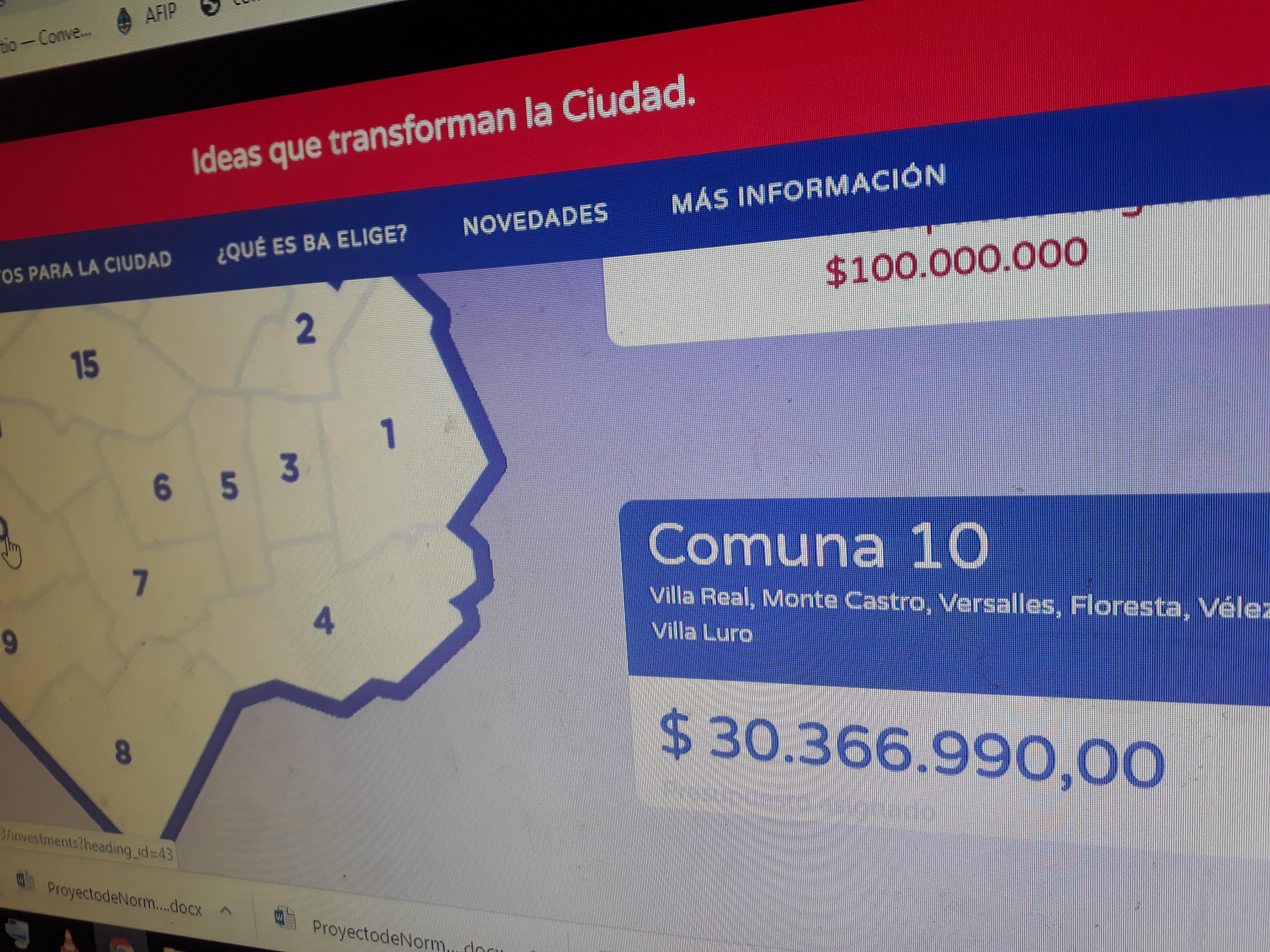 30 Millones y pocas opciones para la Comuna 10 | Arrancó la etapa de votación del BA Elige