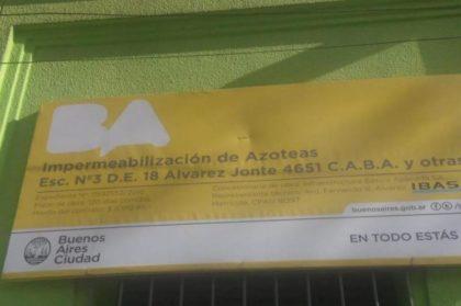 La Auditoría ya había advertido que la impermeabilización de los techos de la Escuela Monte Castro estaba incompleta y mal realizada