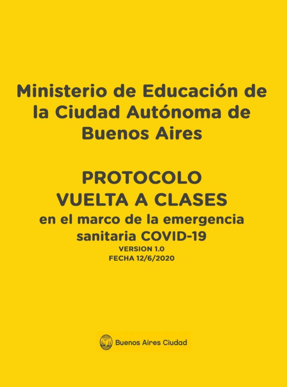 El Ministerio de Educación de la Ciudad elabora un protocolo para volver a las escuelas| Lo que falta es la voz de la comunidad
