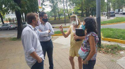 Zona Calma de Villa Real: integrantes de la Legislatura visitaron la obra para escuchar el planteo de los vecinos