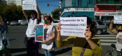 Alto acatamiento al paro docente en las escuelas de la Comuna 10 | Exigen la suspensión de clases presenciales ante pico de contagios