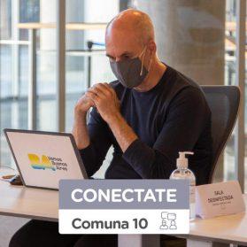 El miércoles 9, Larreta responderá consultas sobre la Comuna 10 | Las reuniones de vecinos, ahora por videollamada