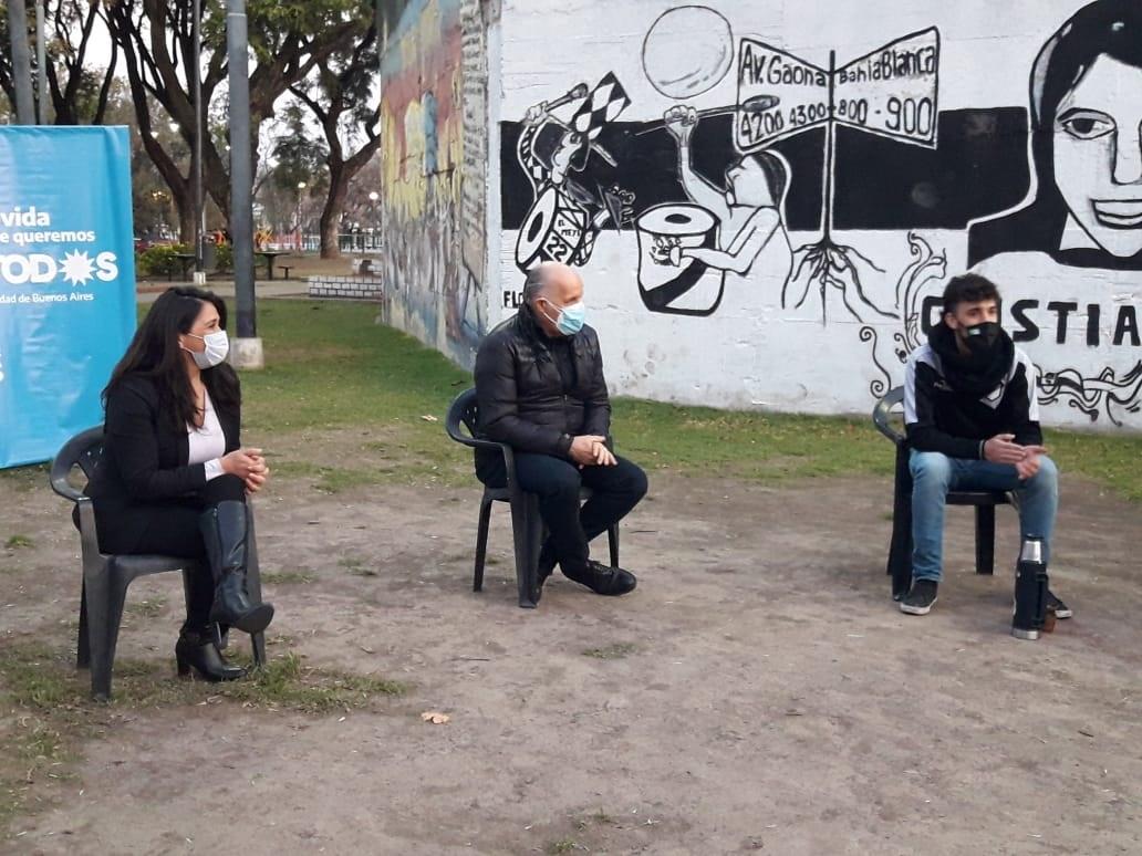 Mates y propuestas de campaña | Alejandro Amor y Victoria Montenegro visitaron Monte Castro
