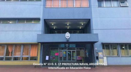 """Avanza la reparación de la Escuela N° 13  D.E. 17 """"Prefectura Naval Argentina"""""""