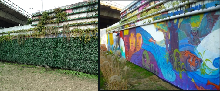 Destinan más de $300 mil al mantenimiento del «Muro Verde» que tapó un Mural en Villa Luro