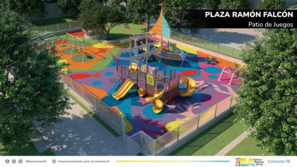 «El proyecto de remodelación integral de la Plaza Ramón Falcón es un reclamo de los vecinos», asegura el presidente de la Comuna 10